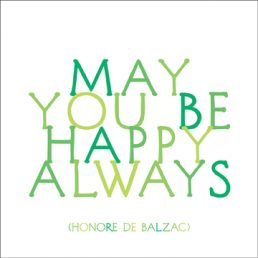 'May you be happy always' magnet