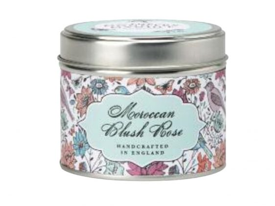 Moroccan blush rose candle