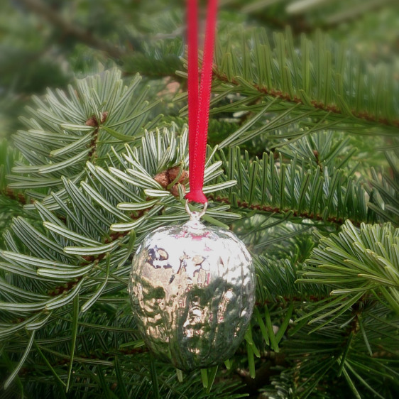 Silver Walnut Christmas Decoration