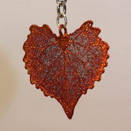 heart leaf keyring