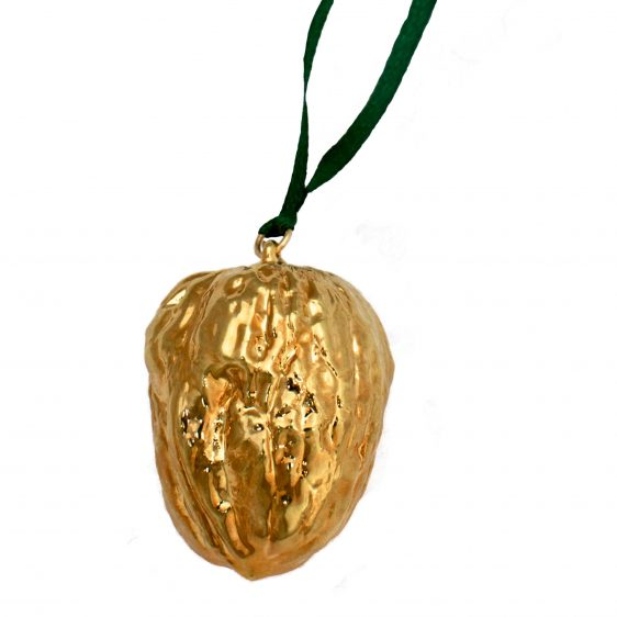 Gold Walnut Christmas Decoration